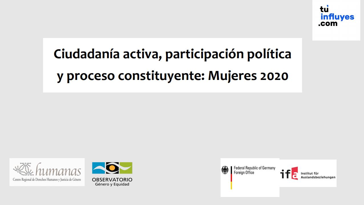 Ciudadanía, participación política y proceso constituyente: Mujeres 2020 | Humanas