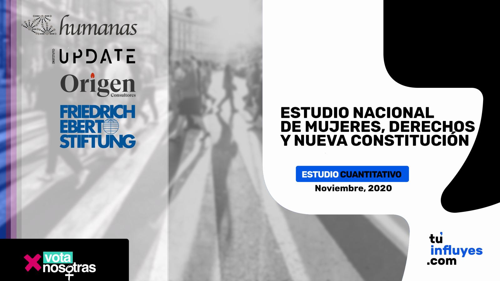 Estudio Nacional de mujeres, derechos y Nueva Constitución, noviembre 2020